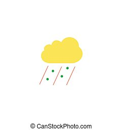 Bad weather Icon Vector. Flat simple color pictogram