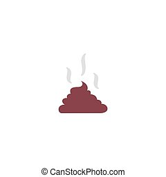 Feces Icon Vector. Flat simple color pictogram