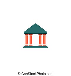 Law Icon Vector Flat simple color pictogram