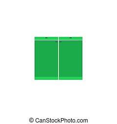 Cupboard Icon Vector. Flat simple color pictogram