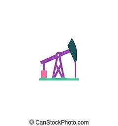 Oil derrick Icon Vector. Flat simple color pictogram