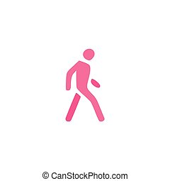 Pedestrian Icon Vector. Flat simple color pictogram