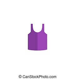 Shirt Icon Vector. Flat simple color pictogram