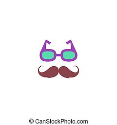 Hipster Icon Vector. Flat simple color pictogram