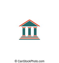 Tribunal Icon Vector. Flat simple color pictogram