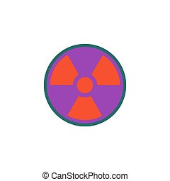 Radiation Icon Vector. Flat simple color pictogram