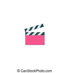 Clapper board Icon Vector