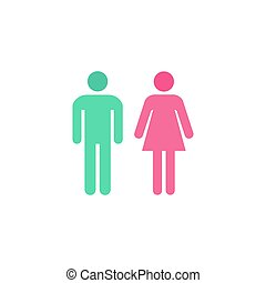 Toilet Icon Vector. Flat simple color pictogram