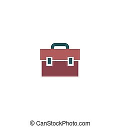 Suitcase Icon Vector Flat simple color pictogram