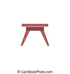Camping table Icon Vector. Flat simple color pictogram
