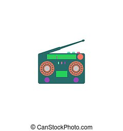Turntable Icon Vector Flat simple color pictogram
