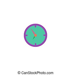 Clock Icon Vector. Flat simple color pictogram