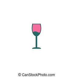 Alcohol glass Icon Vector. Flat simple color pictogram