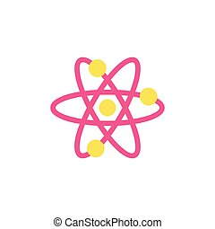 Molecule Icon Vector. Flat simple color pictogram