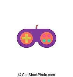 Gamepad Icon Vector Flat simple color pictogram