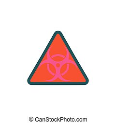 Bio hazard Icon Vector Flat simple color pictogram