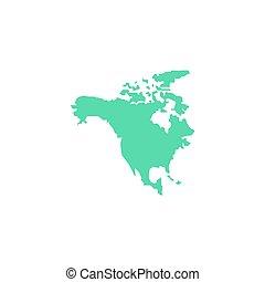North America Icon Vector. Flat simple color pictogram