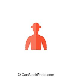 Avatar Icon Vector Flat simple color pictogram