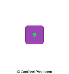 Dice Icon Vector. Flat simple color pictogram