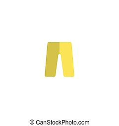 Pants Icon Vector. Flat simple color pictogram