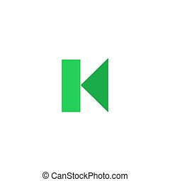 Previous Icon Vector. Flat simple color pictogram
