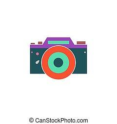 DSLR Icon Vector. Flat simple color pictogram