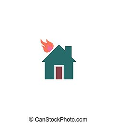 Home fire Icon Vector