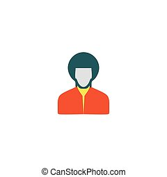 rastafarian, pictogram, Vector