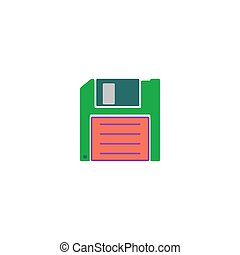 Save Icon Vector Flat simple color pictogram