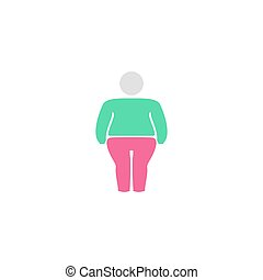 Fatso Icon Vector. Flat simple color pictogram