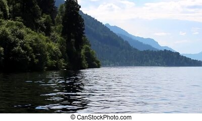 boat trip on Lake Teletskoye in the Altai Republic - boat...