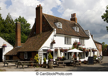 Traditional Old English Pub - View of a traditional old...