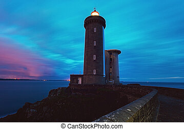 Petit Minou Lighthouse. Plougonvelin, Brittany, France