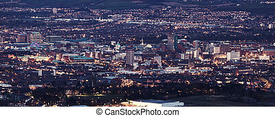 Aerial panorama of Belfast - Aerial panorama of Belfast....