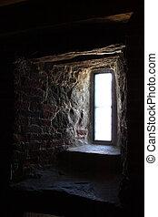 Light from window in stone wall - Light from window in...