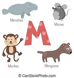 Cute zoo alphabet - Cute vector zoo alphabet. Funny cartoon...