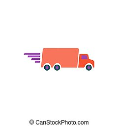 Fast truck Icon Vector
