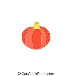 Pumpkin Icon Vector. Flat simple color pictogram