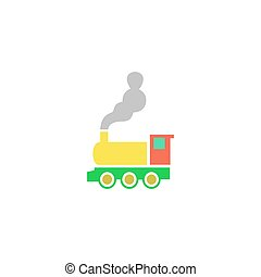Train Icon Vector Flat simple color pictogram