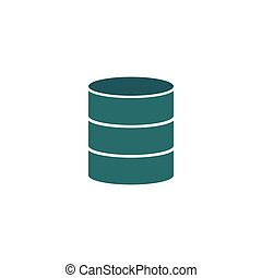 Server Icon Vector. Flat simple color pictogram