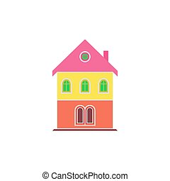 House Icon Vector. Flat simple color pictogram