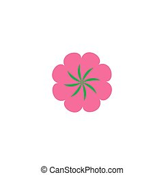 Flower Icon Vector Flat simple color pictogram