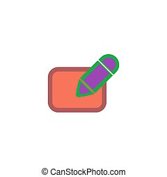 Subscription Icon Vector. Flat simple color pictogram