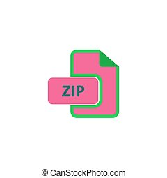 ZIP Icon Vector