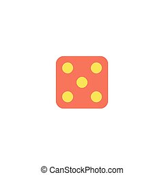 Dice Icon Vector. Flat simple color pictogram