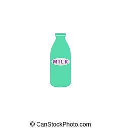 Milk Icon Vector. Flat simple color pictogram