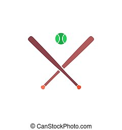 Baseball Icon Vector. Flat simple color pictogram