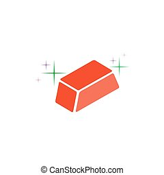 Ingot Icon Vector