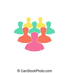 Crowd Icon Vector