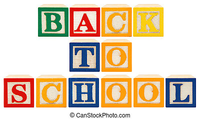 Alphabet Blocks Back To School
